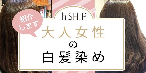 h.SHIPの白髪染め